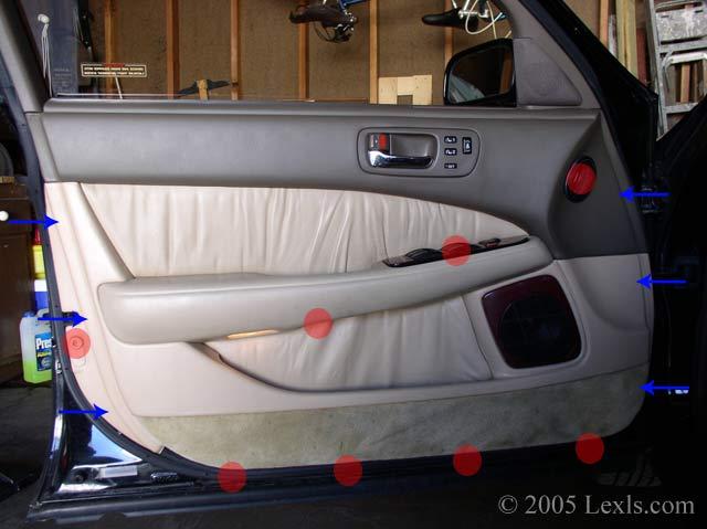 Remove The Front Inner Door Panel For Lexus Ls400 Ls430