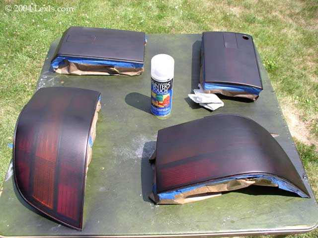 tinting tail lights for lexus ls400 ls430 ls460 1990 94 lighting. Black Bedroom Furniture Sets. Home Design Ideas